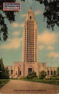 Louisiana Baton Rouge The State Capitol 1944