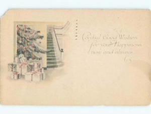Divided-Back CHRISTMAS SCENE Great Postcard W9414