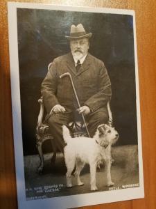 Picture Postcard:: KING EDWARD VII and his Dog Caesar taken 1902-1910