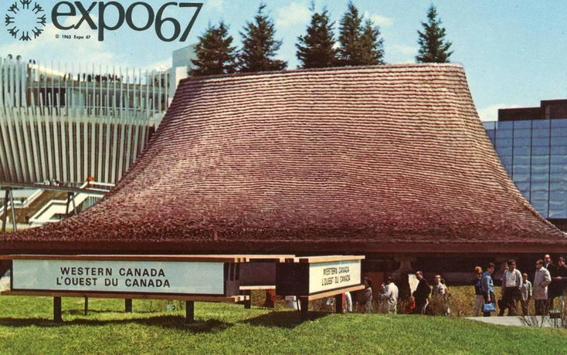 Canada - Quebec, Montreal. Expo '67.  Pavilion of the Western Provinces