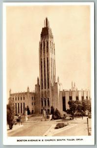 South Tulsa Oklahoma~Boston Avenue Methodist Episcopal ME Church~1930s RPPC