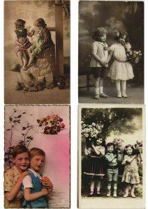 BOYS AND GIRLS CHILDREN GLAMOUR REAL PHOTO 600 CPA (L2968)