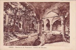 Italy Assisi Perugia Basilica Di Saint Francesco Interno Del Chiostro