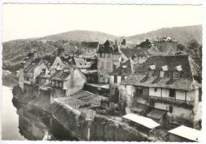RP  ARGENTAT (Correze), France, 50-60s, Vieilles Maisons sur la Dordogne