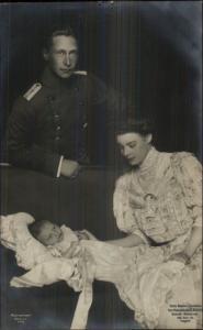 German Royalty - Crown Prince Wilhelm & Princess Cecile & Baby RPPC c1910