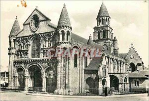 Modern Postcard Poitiers Vienne Church of Our Lady the Great West and South F...