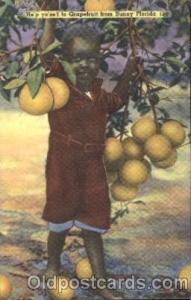 Grapefruitfrom Sunny Florida Black, Blacks Postcard Post Card  Grapefruitfrom...