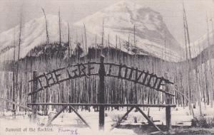 ALBERTA, Canada, PU-1907; Summit Of The Rockies