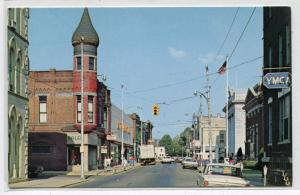 Street Scene Titusville Pennsylvania postcard