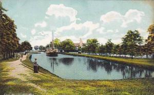 Ferry, Gota Canal, Sweden, 1910-1920s
