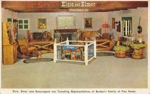 Elsie and Elmer Beauregard Traveling Rep's of Borden's Fine Foods Postcard