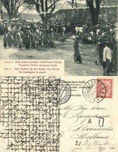 indonesia, JAVA YOGYAKARTA DJOKJA, Royal Wedding, Groom on Horse (1911) Postcard