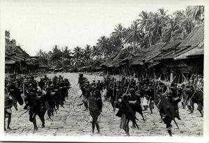 indonesia, NIAS, Native Warriors Shield Spear Balato (1930s) Real Photo (06)