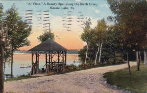 Al Vista A Beauty Spot along the Birch Drive, Moosic Lake, Pennsylvania, PU...