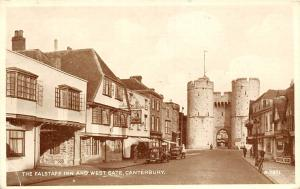 Canterbury The Falstaff Inn and West Gate, Greetings 1953