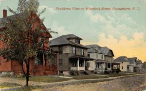 Canajoharie New York~Nice 2 Story American Square Homes on Wheelock Street~1913