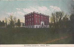 Michigan Albion Mcmillian Labratory 1909