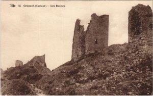 CPA CROZANT - Les Ruines (121796)
