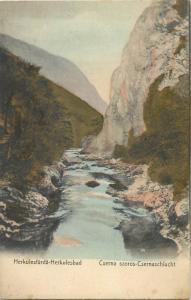 MB Romania Herculesbad Herculane Herkulesfurdo Cerna Cserna river valley 1900s