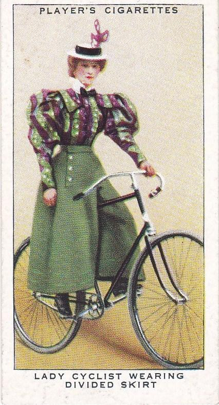 Cigarette Cards Players CYCLING No 27 Lady Cyclist Wearing Divided Skirt