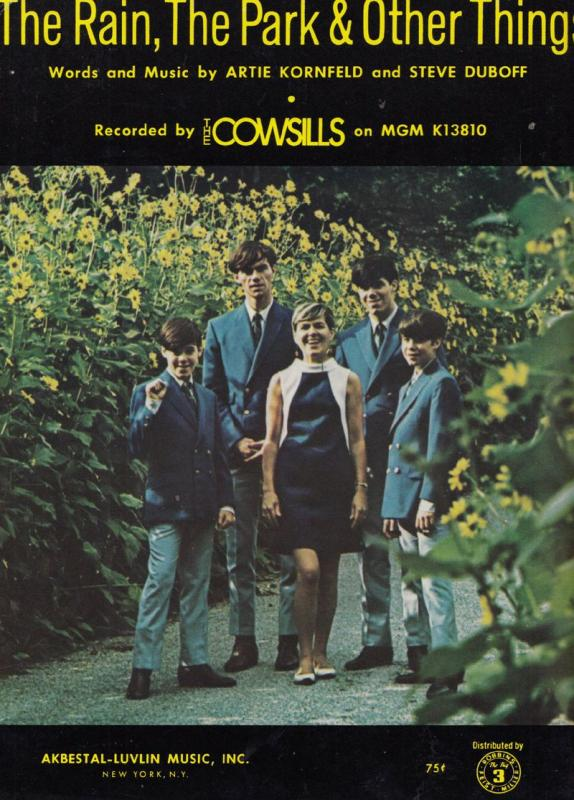 The Rain Park & Other Things The Cowsills XL Sheet Music