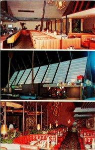Autos Coffee Dan's Restaurant Van Nuys California Multi Night Postcard PC