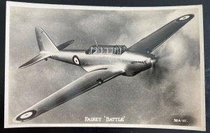 Mint England Picture Postcard Royal Air Force Airplane Fairey Battle