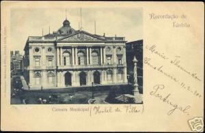 portugal LISBOA Camara Maunicipal, Town Hall 1900 Stamp