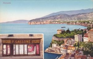 Italy Sorrento Panorama & P Gallone Lace Shop