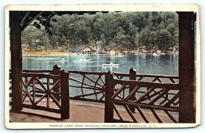 Postcard NY Bear Mountain Hessian Lake from Dancing Pavilion