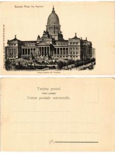 CPA ARGENTINA-Buenos Aires, Rep.Arg. Futuro Palacio del Congreso (349603)