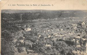 E94/ Steubenville Ohio Postcard 1907 Double Panel Fold La Belle Birdseye