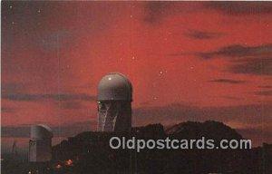 Auror Over Kitt Peak National Observatory Space Unused