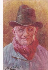 Dutch man in hat, art card by Gertenhauer, 00-10s