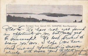 SUNAPEE, New Hampshire, PU-1908; View Of Lake Sunapee From Garnet Hill