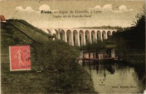 CPA RIVES - Ligne de GRENOBLE a Lyon - Viaduc-du-PONT-du-Boeuf (247193)
