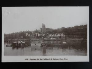 Kent CHATHAM - H.M. CUSTOMS Floating Shed & DOCKYARD St Marys Church c1912 RP