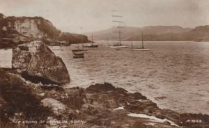 Kerrera Fishing Boat The Sound Of Oban Sea Boats Antique Postcard
