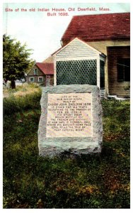 Massachusetts  Old Deerfield , Old Indian House Monument