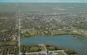 REGINA, Saskatchewan, Canada, 1940-60s; Aerial View, Provincial Legislative B...