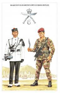 Postcard The British Army Series No.55 6th Queen Elizabeth's Own Gurkha Rifles