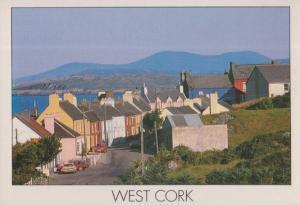 West Cork Eyeries Village Grocery Store Open Hanging Sign Irish Postcard