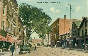ME, Auburn, Maine, Court Street, H.I. Tarr
