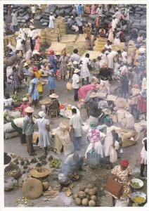 HAITI ; 60-80s ; Port-au-Prince: Market