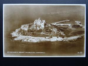Cornwall ST MICHAEL'S MOUNT From The Air c1938 Postcard by Valentine H177