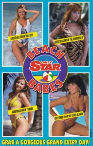 Daily Star Beach Babes Page 3 Newspaper Girls Advertising Postcard
