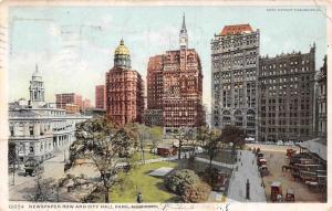 USA New York, Newspaper Row and City Hall Park Promenade