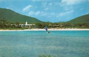 ST THOMAS, Virgin Islands  BLUEBEARD'S BEACH CLUB  Roadside WINDSURFING Postcard