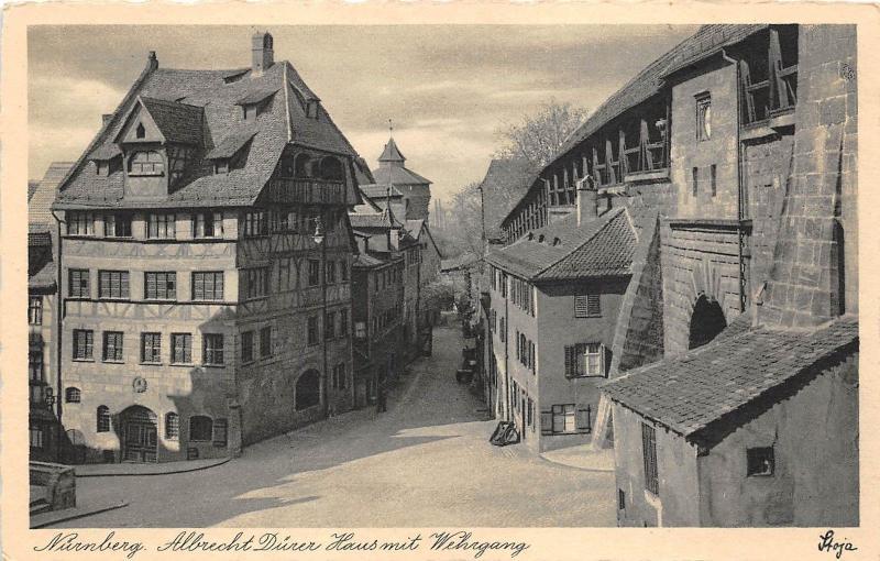 Scan Haus b4432 germany nurnberg albrecht duner haus front back scan hippostcard