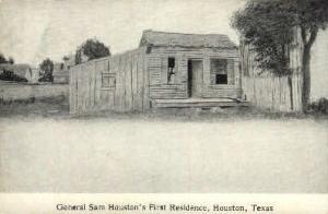 General Sam Houston's First Residence Houston TX Unused